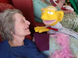 Puppet now called Ken shares a friendly smile.