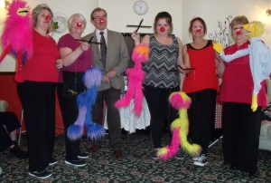 Alan and his team on Red Nose Day