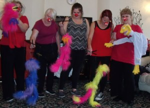 Red Nose dancers