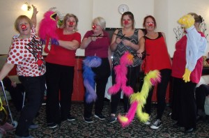 Red Nose dancers with Annette