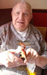 Tiny vintage puppet